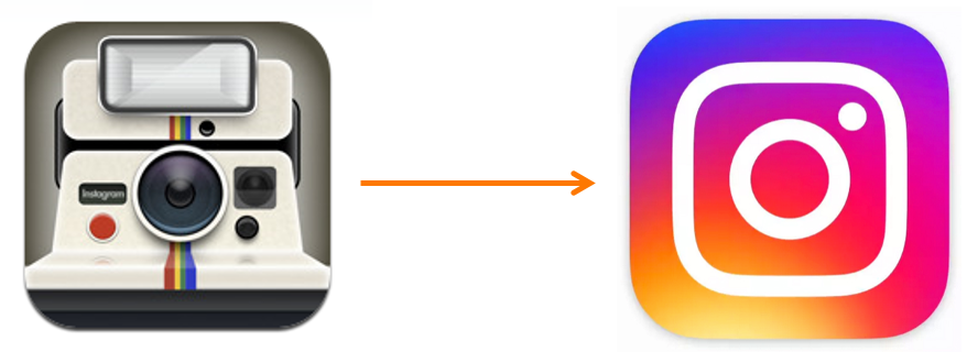 Instagram Logo Before and Current